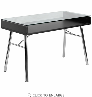 Brettford Desk with Tempered Glass Top [NAN-JN-2966-GG]