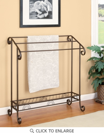 Bronze Metal Bathroom Towel Rack