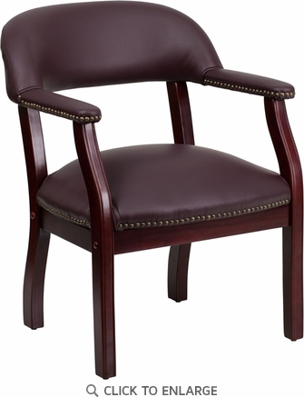 Burgundy Leather Conference Chair [B-Z105-LF19-LEA-GG]
