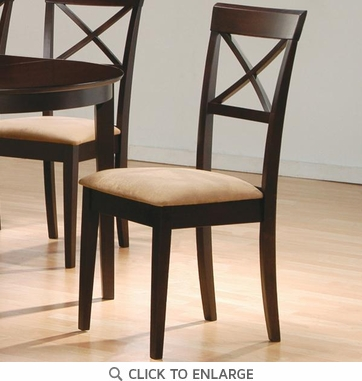 Cappuccino Cross Back Dining Chairs by Coaster 100774 - Set of 2