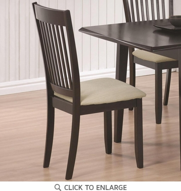 Cappuccino Finish Dining Chairs 103722 - Set of 2