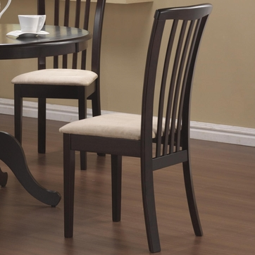 Cappuccino Slat Back Dining Chairs (Set of 2)
