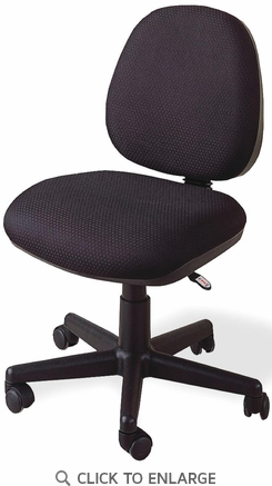 Casual Black Fabric Office Secretary Task Chair by Coaster - 4200