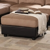 Claude Brown & Latte Microfiber Two Tone Ottoman