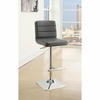 Contemporary Adjustable Grey Upholstered Bar Stool by Coaster 120696 - Set of 2