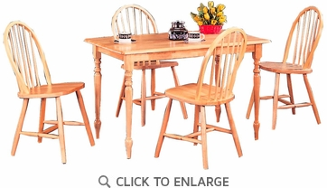 Damen 5 Piece Natural Finish Dining Set by Coaster - 4347
