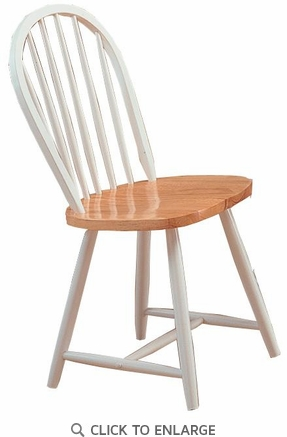 Damen Windsor Dining Chair in Natural and White by Coaster 4129 - Set of 4