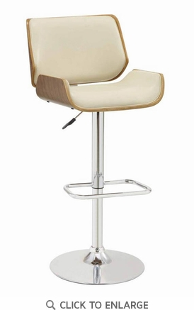 Distressed Wood and Cream Adjustable Bar Stool Chair by Coaster 130503