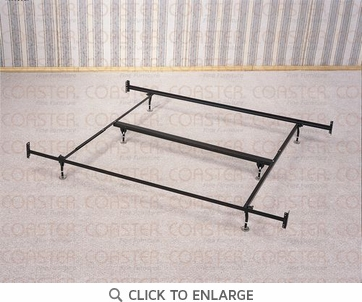 Eastern King Size Bed Frame Rail with 6 Glides by Coaster - 1209