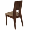 Emerson Walnut Finish Wood Dining Chair with Curved Slat Keyhole Back and Magnolia Brown Fabric Seat [ES-CB-3906YBH-W-CR-GG]