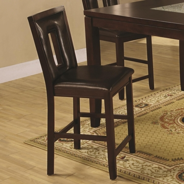 Espresso Finish Counter Height Dining Stool Chair by Coaster 102529 - Set of 2