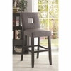 Charcoal Gray Fabric Upholstered Counter Height Dining Chair - Set of 2