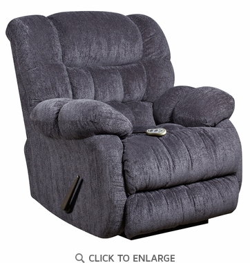 Flash Furniture Blue Microfiber Recliner with Heat Control AM-H9460-5861-GG