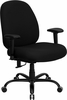 Flash Furniture HERCULES 400 lb. Capacity Big & Tall Black Fabric Office Chair with Arms and WIDE Seat