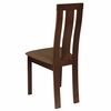 Glenwood Espresso Finish Wood Dining Chair with Vertical Wide Slat Back and Golden Honey Brown Fabric Seat [ES-CB-3932YBH-E-2BRN-GG]