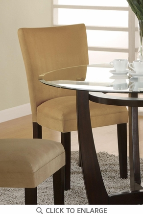 Gold Microfiber Parson Dining Chairs by Coaster 101492 - Set of 2