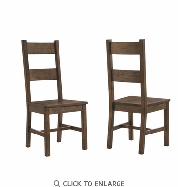 Golden Brown Rustic Dining Side Chair - Set of 2