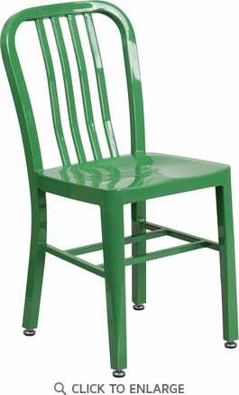 Green Metal Indoor-Outdoor Chair [CH-61200-18-GN-GG]