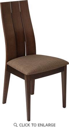 Hadley Espresso Finish Wood Dining Chair with Wide Slat Back and Golden Honey Brown Fabric Seat [ES-CB-3902YBH-E-GH-GG]