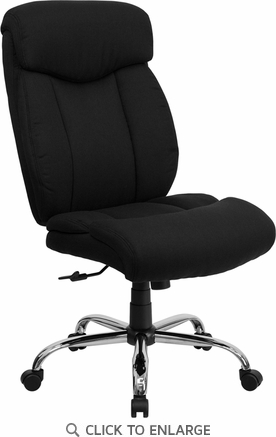 HERCULES 350 lb. Capacity Big & Tall Black Fabric Office Chair [GO-1235-BK-FAB-GG]