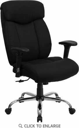 HERCULES 350 lb. Capacity Big & Tall Black Fabric Office Chair with Arms