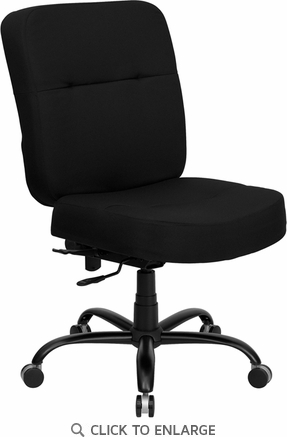 HERCULES 400 lb. Capacity Big & Tall Black Fabric Office Chair with Extra WIDE Seat [WL-735SYG-BK-GG]