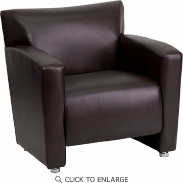 HERCULES Majesty Series Brown Leather Chair [222-1-BN-GG]