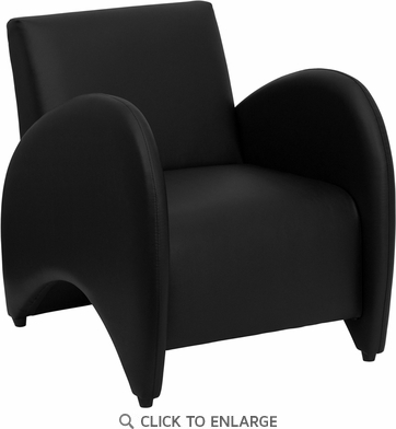 HERCULES Patrician Series Black Leather Reception Chair [ZB-PATRICIAN-BLACK-GG]