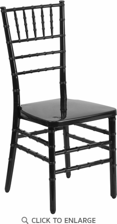 HERCULES PREMIUM Series Black Resin Stacking Chiavari Chair [BH-BLACK-GG]