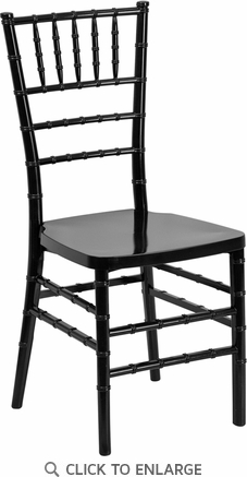 HERCULES PREMIUM Series Black Resin Stacking Chiavari Chair [LE-BLACK-GG]