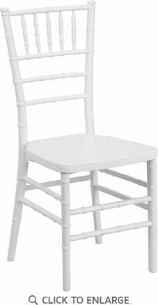 HERCULES PREMIUM Series White Resin Stacking Chiavari Chair [LE-WHITE-GG]