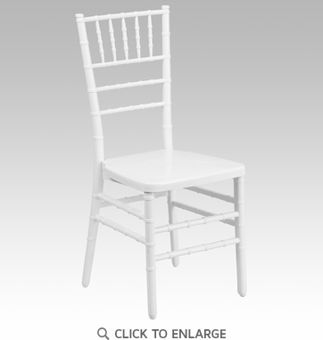 HERCULES PREMIUM White Resin Stacking Chiavari Chair [BH-WHITE-GG]
