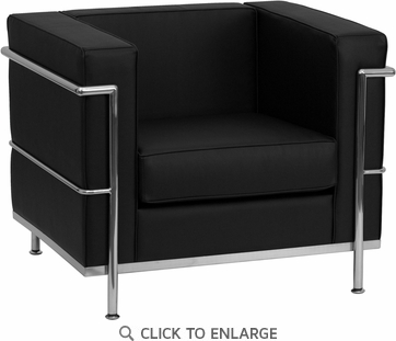 HERCULES Regal Series Black Leather Chair with Encasing Frame [ZB-REGAL-810-1-CHAIR-BK-GG]