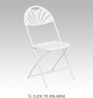 HERCULES Series 800 lb. Capacity White Plastic Fan Back Folding Chair [LE-L-4-WHITE-GG]
