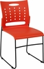 HERCULES Series 881 lb. Capacity Orange Sled Base Stack Chair with Air-Vent Back [RUT-2-OR-GG]