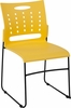 HERCULES Series 881 lb. Capacity Yellow Sled Base Stack Chair with Air-Vent Back [RUT-2-YL-GG]
