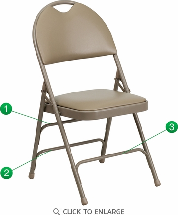 HERCULES Series Extra Large Ultra-Premium Triple Braced Beige Vinyl Metal Folding Chair with Easy-Carry Handle [HA-MC705AV-3-BGE-GG]