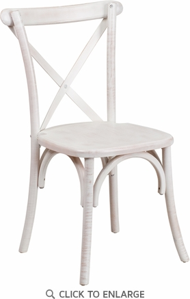 HERCULES Series Limewash Wood Cross Back Chair [XS-1-LME-GG]