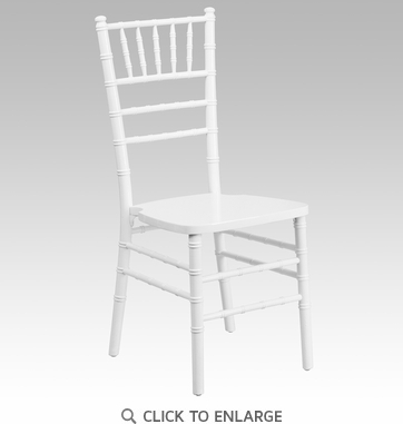 HERCULES Series White Wood Chiavari Chair [XS-WHITE-GG]