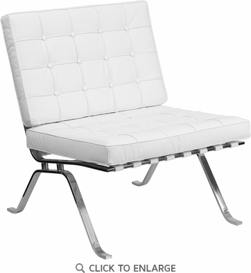 HERCULES White Leather Lounge Chair with Curved Legs [ZB-FLASH-801-CHAIR-WHITE-GG]