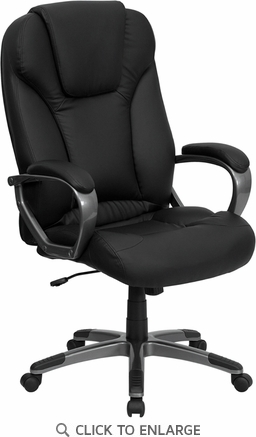 High Back Black Leather Executive Office Chair [BT-9066-BK-GG]