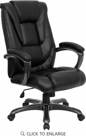 High Back Black Leather Executive Office Chair [GO-7194B-BK-GG]