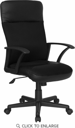 High Back Black Leather / Mesh Combination Executive Swivel Office Chair [CP-A142A01-GG]