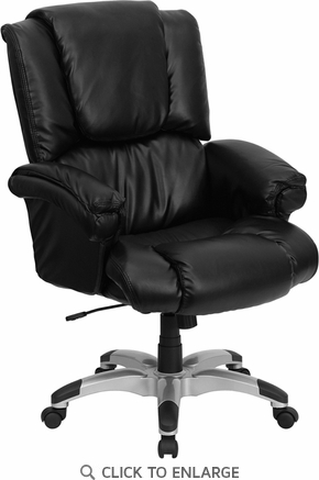 High Back Black Leather OverStuffed Executive Office Chair [GO-958-BK-GG]