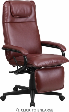 High Back Burgundy Leather Executive Reclining Office Chair [BT-70172-BG-GG]