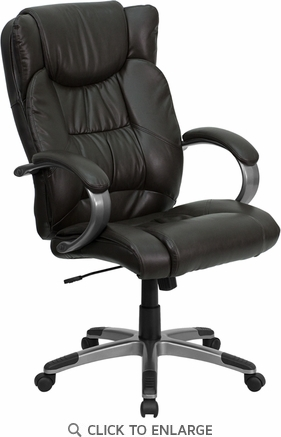 High Back Espresso Brown Leather Executive Office Chair [BT-9088-BRN-GG]