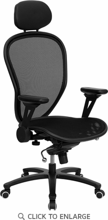 High Back Professional Mesh Office Chair with Solid Metal & Black Accents [CP-A118B01-BK-GG]