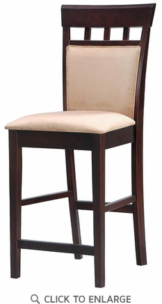 Hyde 24 Inch UPL Back Cappuccino Bar Stool (Set of 2)