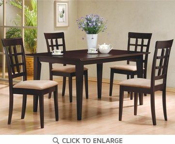 Hyde 5 Piece Dining Table and Chairs by Coaster 100771-100772