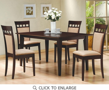 Hyde 5 Piece Dining Table and Chairs by Coaster 100771-100773